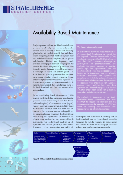 availability based maintenance